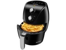 Fritadeira Elétrica sem Óleo/Air Fryer Mondial - New Pratic AF-31 Preto 3,5L com Timer<br><br>
