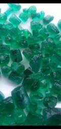 Esmeraldas turmalinas brutas ou lapidadas