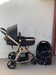 Carrinho de Bebê Safety 1st Travel System Mobi Trio - Black Rosé.