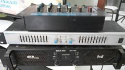 Potência mesa e amplificador troco por bicicleta aro 29 vendo junto ou separado