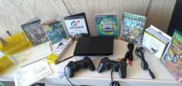 PlayStation 2 original (ACEITO CARTÃO)completo,desbloqueado e super conservado<br>