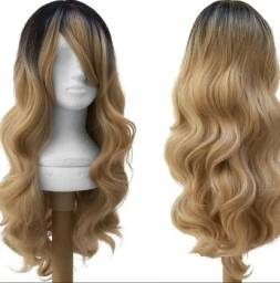 Peruca wig ombre hair cacheada