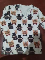 2 blusa de manga longa