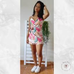 Macacão curto estampado @mariafina.store Teresina Pi