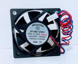 Miniventilador Nework 13.104-e 12v 4000 Rpm 60x60x20 mm
