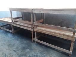 Bancadas de madeiras 1.60x85