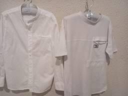 Kit camisa e camiseta branca Zara infantil
