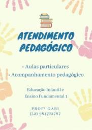 Aulas particulares e acompanhamento pedagógico