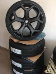 Jogo de roda 20 com pneus novos