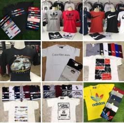 Camisas Multimarcas 100% Algodão Fio 30.1