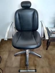 Cadeira reclinável salão de beleza