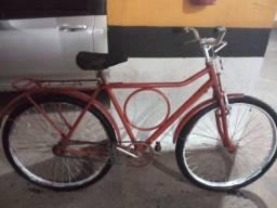 Bicicleta Monarke circular vermelha
