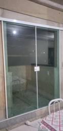 Porta de Abrir de Blindex