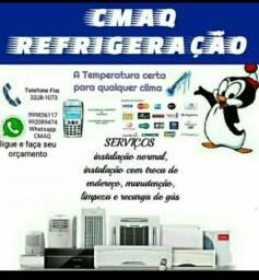 Limpeza,instalação,recarga de gas e assistência técnica em ar condicionados
