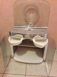 Gabinete para banheiro com Cuba de embutir master 80x47,5 cm cromado