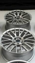 Roda aro 19 BMW M5 M3 Prata Breyton Taluda 5X120 Jogo Novo