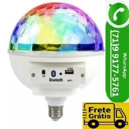 Bola Maluca Led Rgb Bocal Bluetooth Light Usb Controle (NOVO)