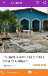 Alugo pousada para carnaval, praia de Genipabu 50 m da praia e dunas