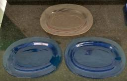3 travessas oval de vidro Nadir