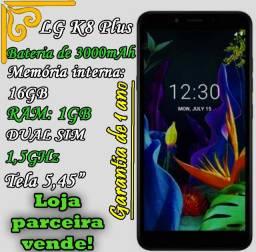 Smartphone LG K8 Plus, Preto, 3.000mAh, 1GB de RAM, 16GB de ROM