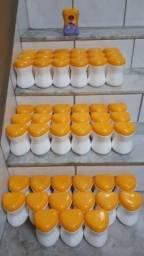 Potes PVC Rígido com Tampa para Artesanato Oficina (30 peças)