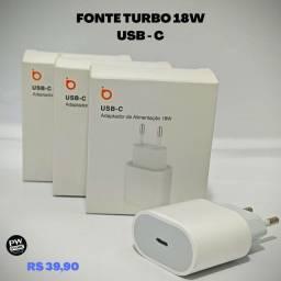 Fonte USB- C 18W turbo - Loja PW STORE