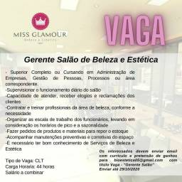 Vaga Gerente Salão de Beleza e Estética