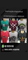 4 Camisetas por R$100,00