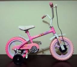 Bicicleta Infantil Aro 12 Rosa Com Rodinhas Paty Fofys
