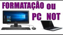 Formatação de Pc's e notebook's
