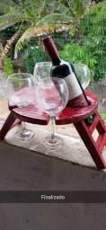 Suporte para vinho e taças