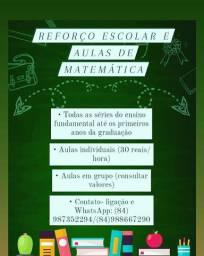 Aulas particulares de matemática e reforço escolar