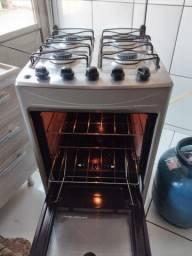 Fogão Electrolux 4 bocas perfeito elétrico luz no forno inox