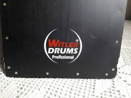 Cajón Inclinado Witler Drums Acústico Black |<br>