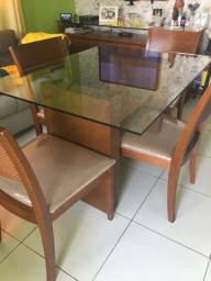 Mesa de Jantar Suprima com 4 Cadeiras Munique