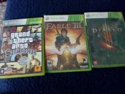 Três jogos de Xbox 360