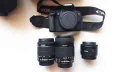 Câmera Canon T5i + 03 lentes e 02 bolsas