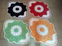 Tapete Anita em Crochê Artesanal - Diversas cores