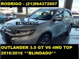 Oportunidade! Outlander 3.0 GT V6 4WD Top 2016/2016 *Blindado