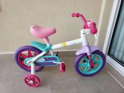 Bicicleta caloi para criança pequena rosa