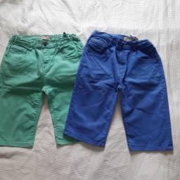 Bermudas jeans infantis Zara com elástico ajustável