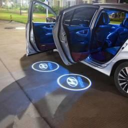 75cada porta projetor porta de carro luz a pilha TEM FIAT FORD WOLKS E HYUNDAI