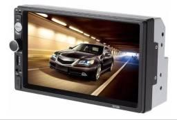 Mp5 Player Automotivo tela LCD 7 Touch Screen  entrada Usb e SD sem DVD