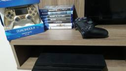 Play 04 pro 1t 4k - 02 controle , 07 jogos