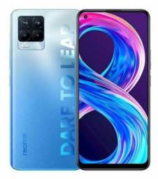 Realme 8 pro 8/128GB 108mp tela Amoled snap 720G cor azul celeste