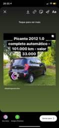 Picanto 1.0 2012 completo - somente venda não aceito troca