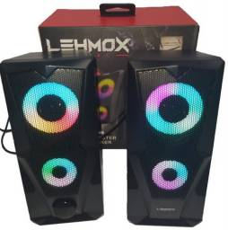 NOVA! Caixa de Som PC Gamer RGB Lehmox Hyper GT - S4