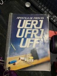 Caderno de provas UFF; UFRJ; UERJ