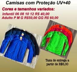 Camisas com Proteção UV +40