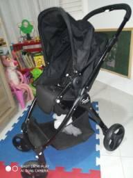 Carrinho de Bebê - Soul - Black - Burigotto Com bebê Conforto e Base